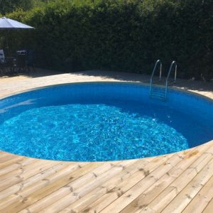 Planet Pool Stålväggspool Premium Rund 3,5 x 1,5m Persia Grå