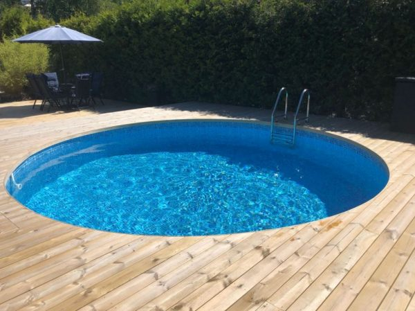 Planet Pool Stålväggspool Premium Rund 6 x 1,5m Persia Grå